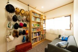 オープンスペース・寝室&書斎